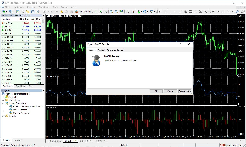 Ajouter et configurer un EA ou robot de trading