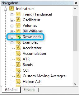 Obtenir un indicateur ou un EA depuis le logiciel 3