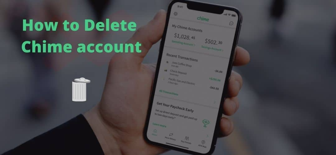 how to delete chime account