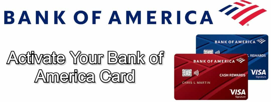 activate bank of america card