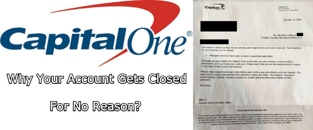 Capital one closed for no reason