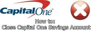 how to close Capital One savings account