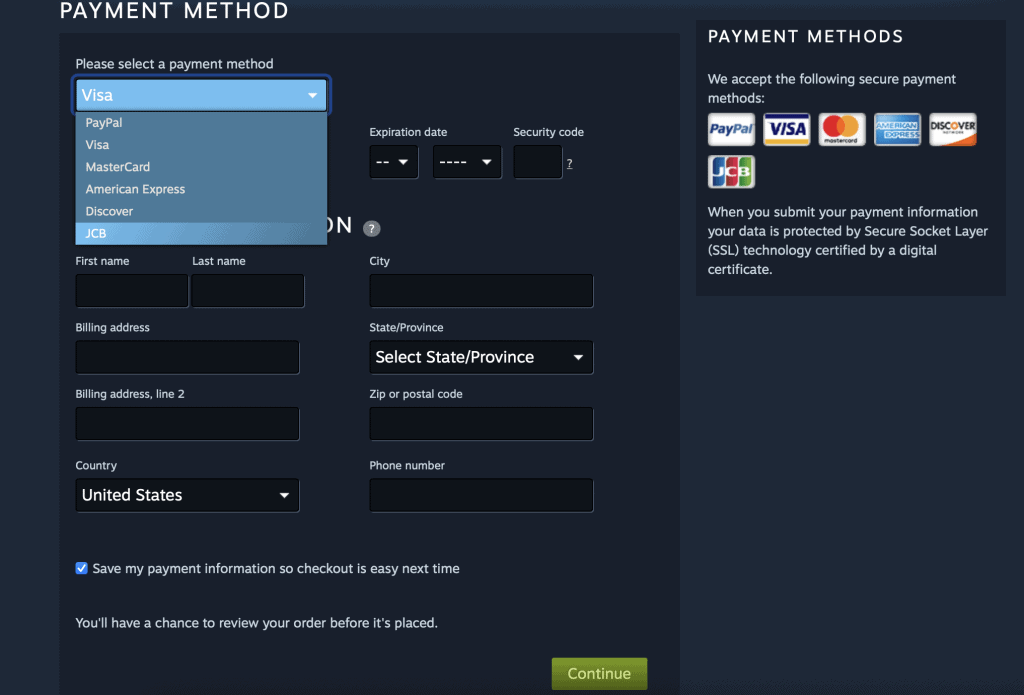 How to Use a Debit Card on Steam