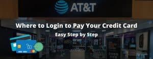 AT and T login credit credit card