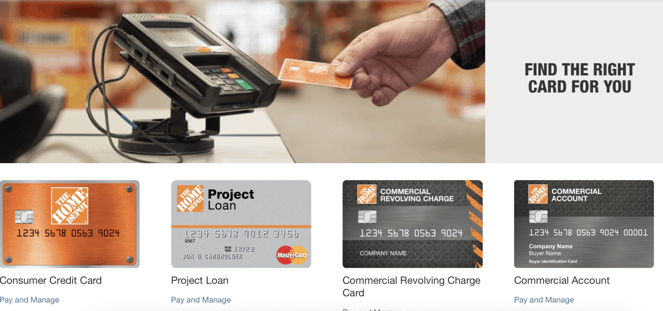 the home depot credit card sign in