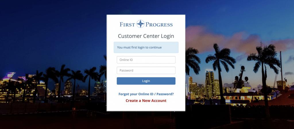 First Progress Login