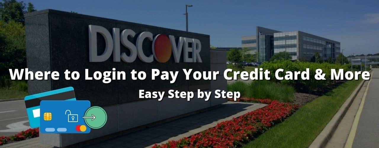 discover bank login credit card
