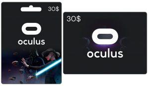 Gift card oculus