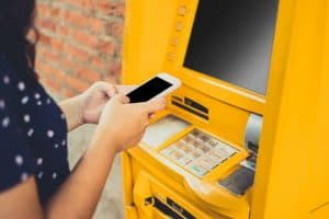 Atm that allows Apple pay & Google Pay