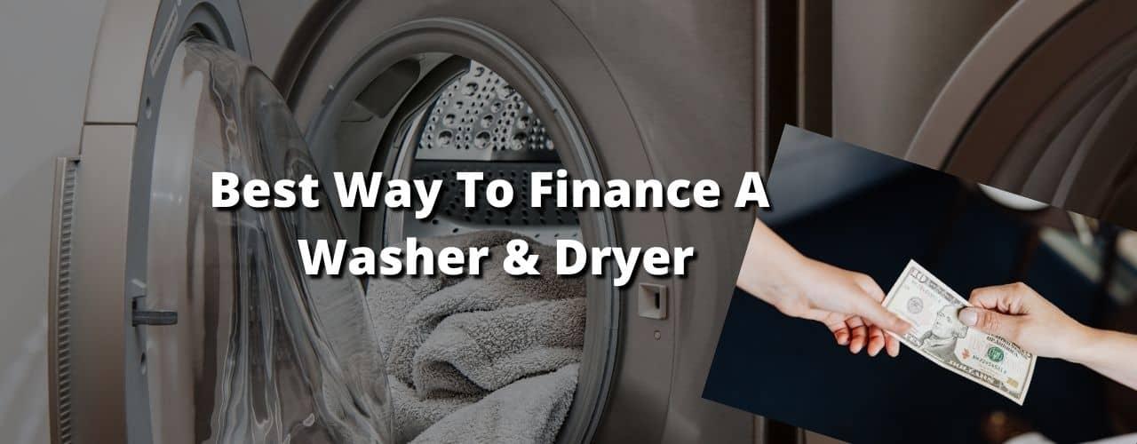 Finance A Washer & Dryer