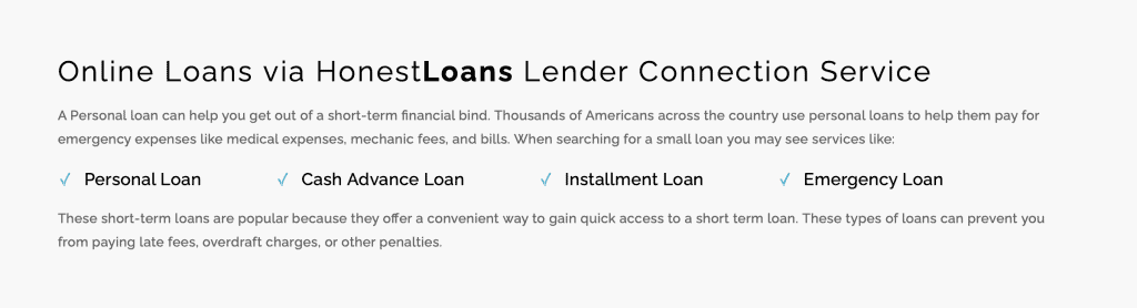 Honest Loans Review