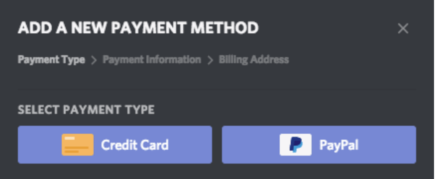 Credit Card that Works with Discord