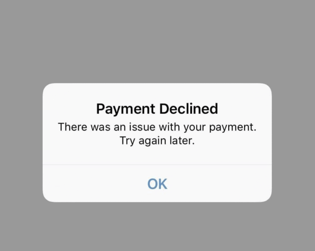 There was an Issue with Your Payment on Venmo