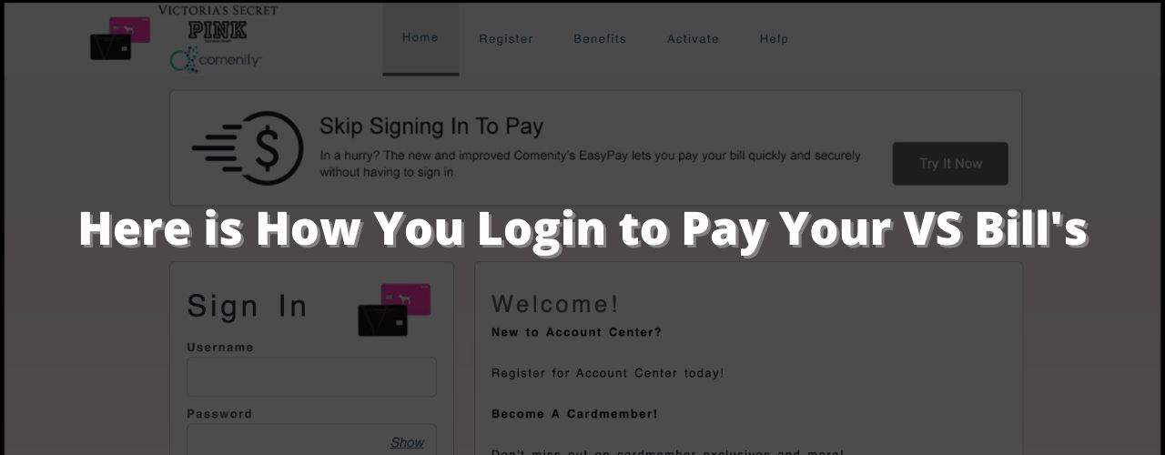 VS credit card login
